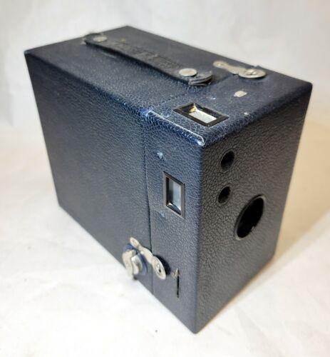 Eastman Kodak RAINBOW HAWK-EYE Box Camera NAVY BLUE No 2A Model B vintage 1920s