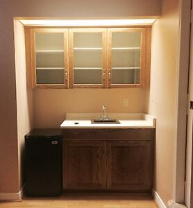Solid Oak wet Bar