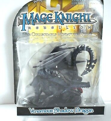 Mage Knight Rebellion Venomous Shadow Dragon Limited Edition Collectable Figure