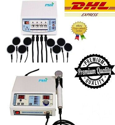 Ultrasound Therapyelectrotherapy Machine Combo Cont Pulse Therapy Unit