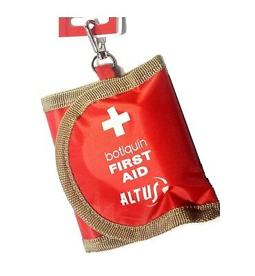 Erste Hilfe Set Mini 11,5 x 9,5 cm First Aid mit Haken für Befestigung an Tasche