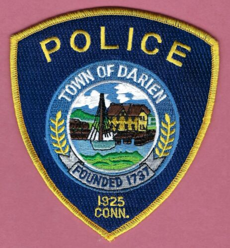 DARIEN CONNECTICUT POLICE SHOULDER PATCH