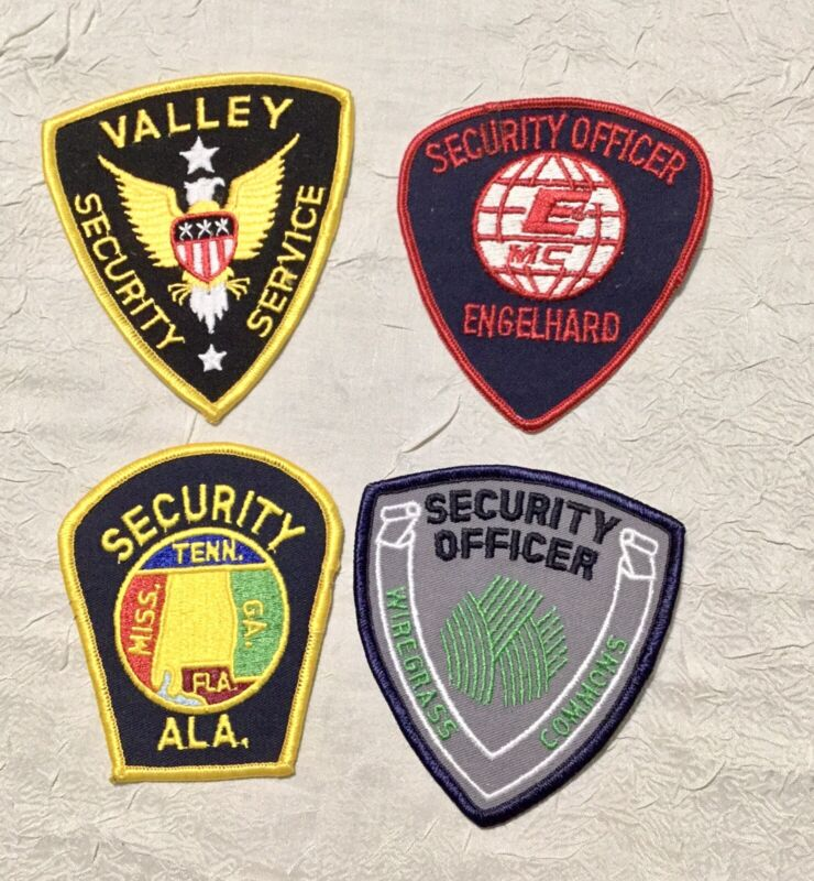 """SECURITY POLICE U.S. LAW ENFORCEMENT RELATED SHOULDER PATCHES """"LOT OF 4"""""""