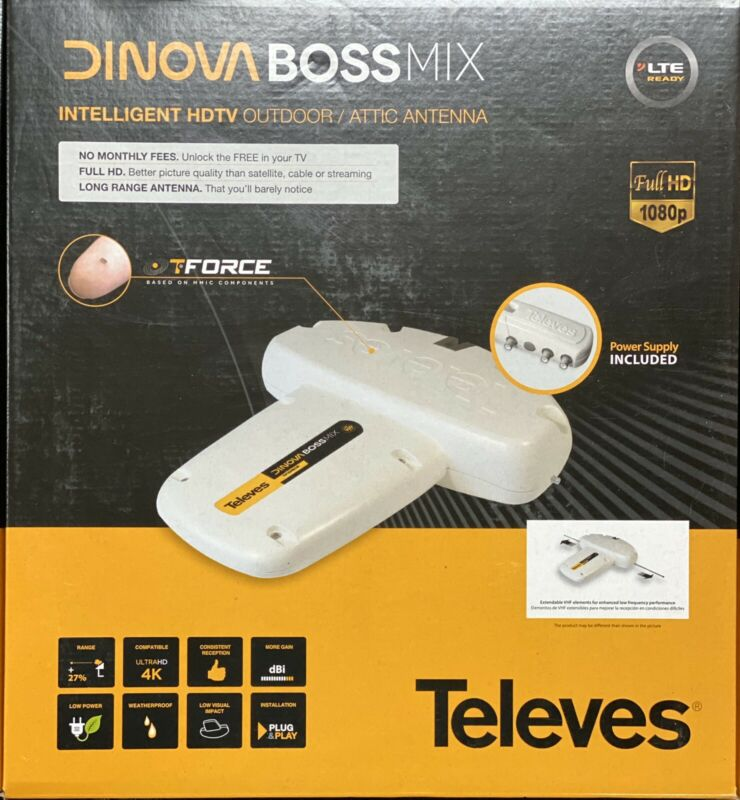 Televes DigiNova Boss UHF/VHF Amplified HDTV Antenna with LTE Filter (144180