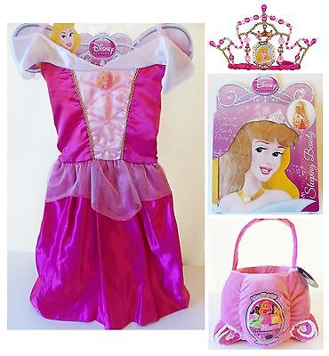 Disney Princess AURORA 4-6x Sleeping Beauty Dress Tiara Wig Halloween Costume](Princess Aurora Tiara)