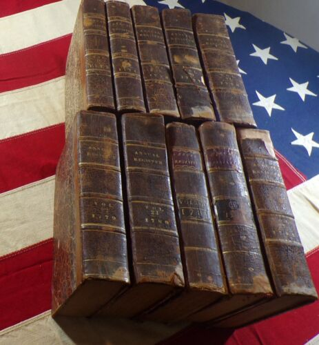 10 Revolutionary War Era Annual Registers 1773 -1784 Over 240 Years Old!