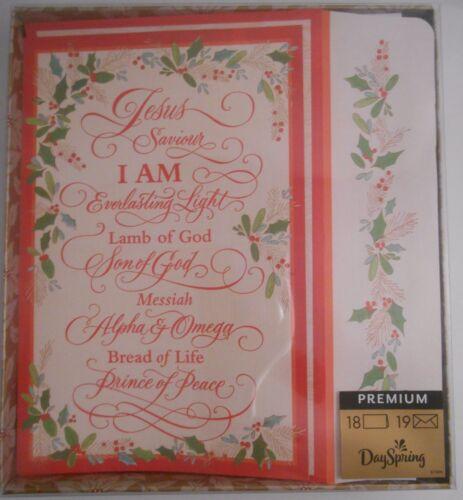 DaySpring 18 Pack Premium Religious Christmas Greeting Cards & 19 Envelopes NEW