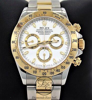 Rolex Daytona 116523 New Style Cosmograph 2Tone 18K Yellow Gold /SS Watch *MINT*