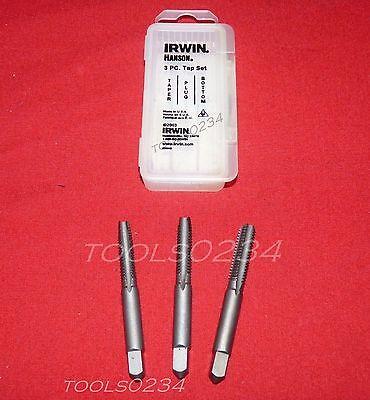 Irwin 2627 5/16-18 NC Carbon Steel Tap Set 3PC Taper Plug & Bottom USA Made Carbon Steel Tap Set