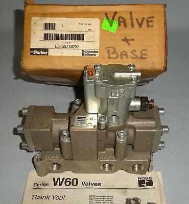 Parker L5455z10253 Solenoid Valve 120vac Base K022092 Schrader Bellows New