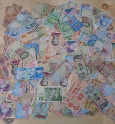 Assorted Lot of 500+ MIXED FOREIGN BANKNOTES Circulated World Paper Money LOT