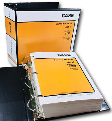 Case 580k Backhoe Loader Tractor Phase 1 Service Manual Shop Book Ovhl