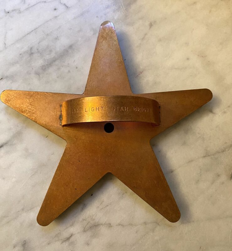 """Vintage MARTHA STEWART Copper Cookie Cutter STAR LIGHT 8"""" Oversize MSL"""