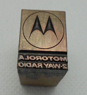 Vintage Printing Letterpress Printers Block Motorola 2 Way Radio