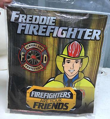 Freddie Firefighter Fan Club Kit Stickers Certificate Tattoos - Firefighting Tattoos