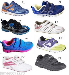 Boys-Girls-velcro-fastening-School-running-trainer-sports-shoes-9-10-11-12-12-1