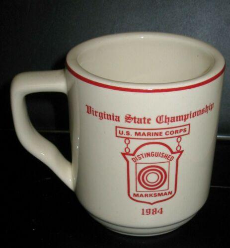U.S. Marine Corps Mug Distinguished Markman 1984 Quantico Virginia Championship