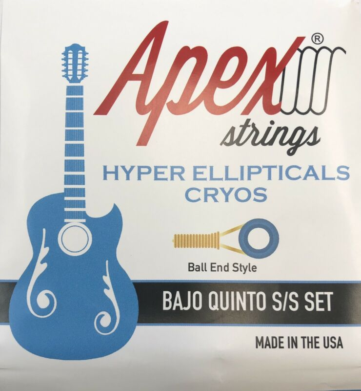 Bajo Quinto BALL END Apex Strings Hyper Ellipticals Stainless Steel Set NEW
