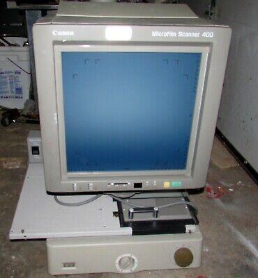 Canon Microfilm Scanner 400 Microfiche With Canon Rollfiche Carrier 200