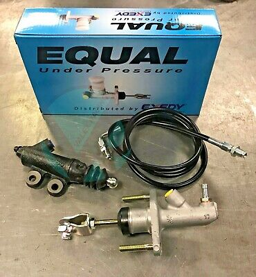 Exedy Master & Slave Cylinder & Stainless Clutch Line Kit 94-01 Acura Integra