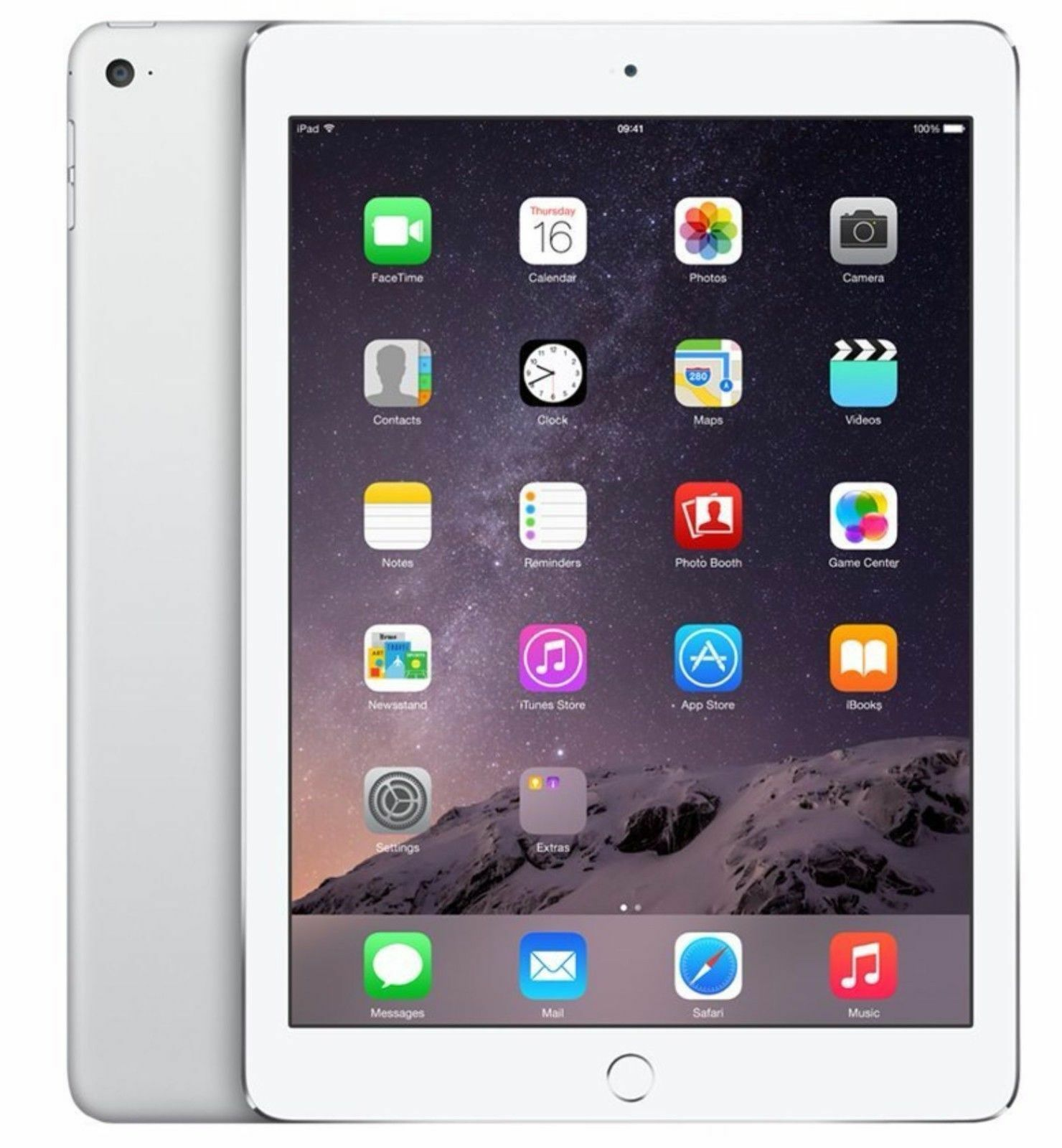 Apple iPad Air 2 64GB, Wi-Fi + Cellular(Unlocked), 9.7in -White/Silver (Grade B)