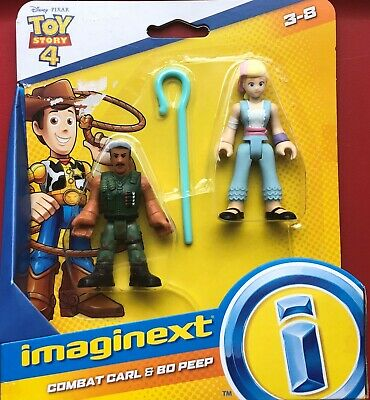 """New Imaginext Toy Story 4 ~ """"Combat Carl & BO Peep"""" ~ Figures ~ Ages 3-8"""