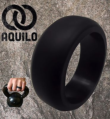 AQUILO Silicone wedding Ring Band rubber ring Crossfit, Best Flexible (Best Band Silicones)