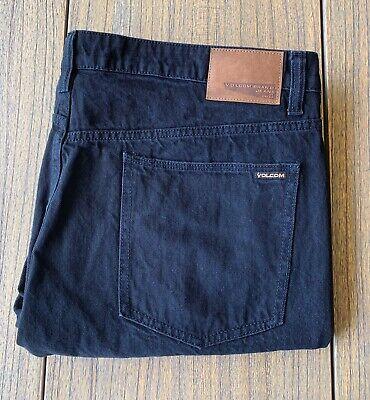 Volcom Men's Black Vorta Slim Straight Leg Jeans Sz 40x30 Volcom Black Jeans
