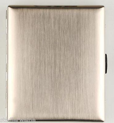 Jean Claude Zigarettenetui / Chrom gebürstet / 2seitig / Bügel / 20 Kingsize