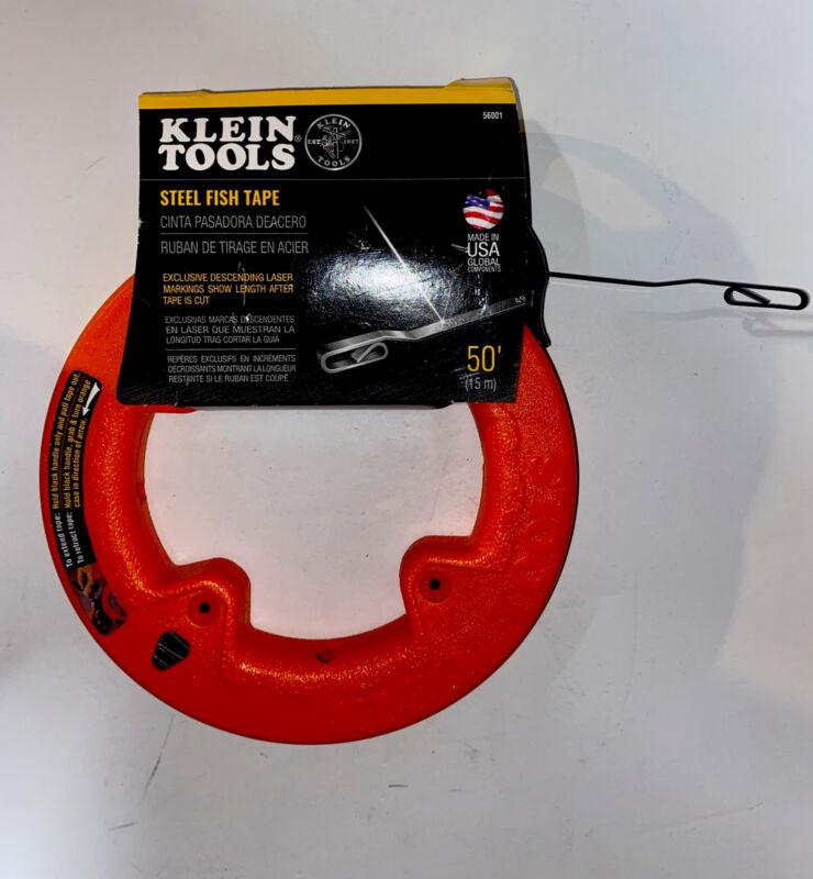 "klein tools 56001 50' Long x 1:8"" Wide Steel Fish Tape"