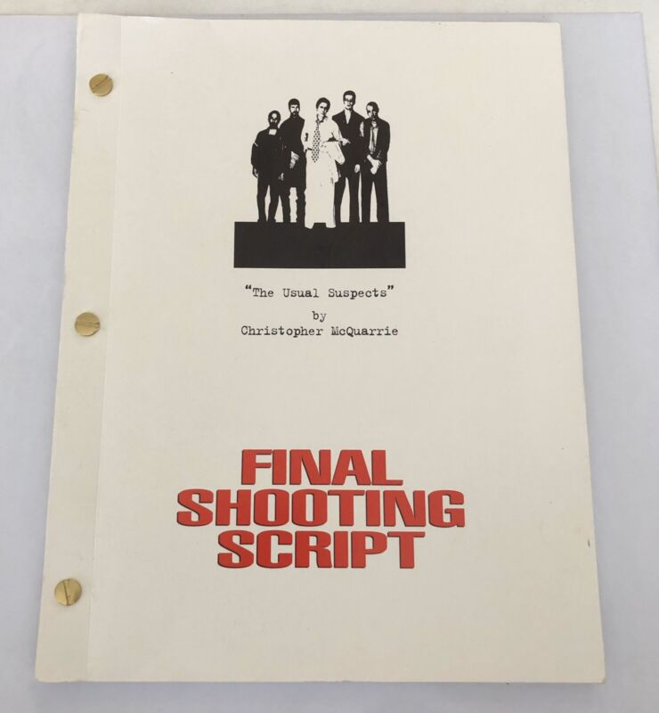 The Usual Suspects Movie Final Shooting Script Reprint Full Screenplay