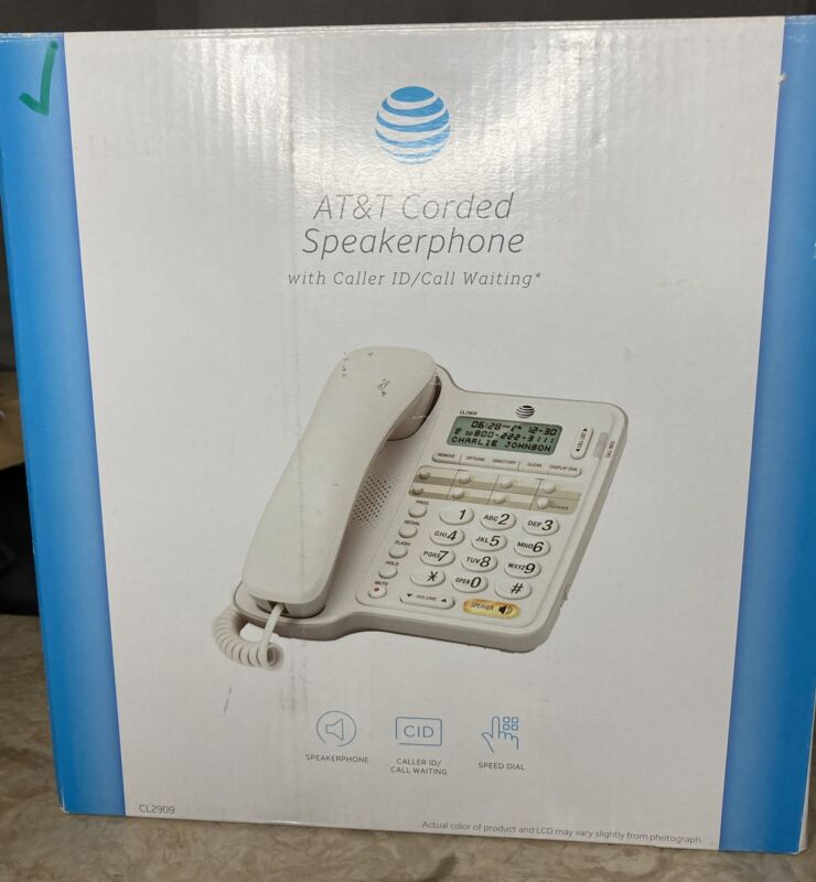 AT&T Corded Speakerphone CL2909 Land Line Phone Telephone
