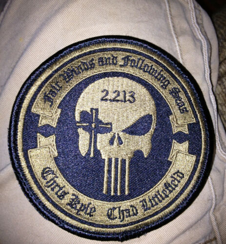 """Craft International 4"""" Limited Memorial Patch 2.2.13 Chris Kyle Chad Littlefield"""