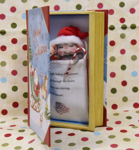 """Needle Felted """"Night Before Christmas"""" Book And Mouse!"""