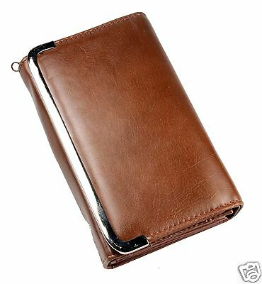 Womens Lady PU Leather Fashion Purse Wallet Handbag Clutch Bifold Holder Brown