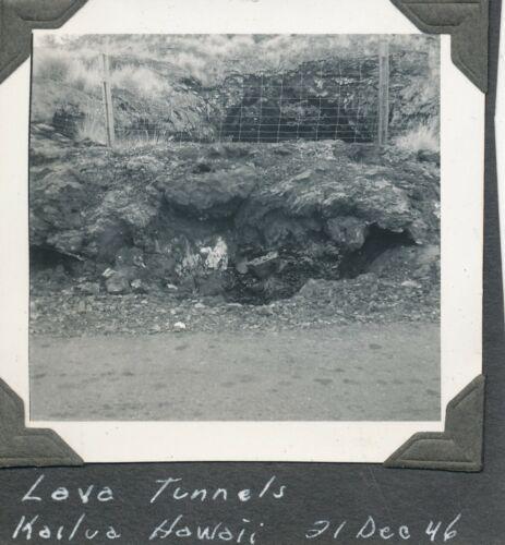 Dec 1946  Lava  tunnel at Kailua, Hawaii  Photos