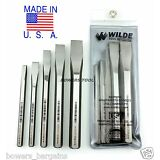 Wilde Tool 5pc Cold Chisel Set MADE IN USA Professional Quality HighCarbon Steel