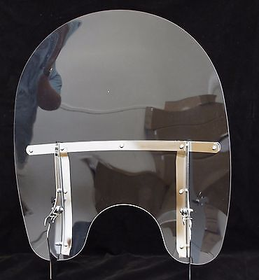 Detachable Windshield For Harley Heritage Softail with mounting brackets 2000-up
