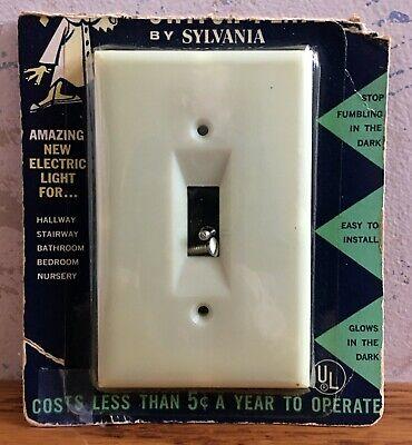 Rare Vintage Sylvania Panelescent Nite-Lite Lighted Switch Plate Damaged Package