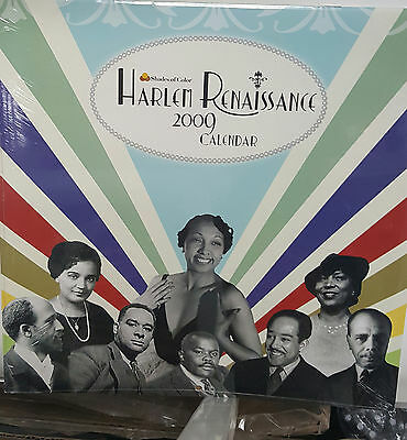 2009 Harlem Renaissence Wall Calendar/African American Art/ Black Americana