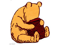 """5/"""" Disney classic pooh /& piglet prepasted wall border cut out character"""