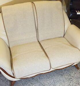 Protettore-Mobili-Set-2-pezzi-couchschoner-in-ottica-onda-Beige-Fodera-100