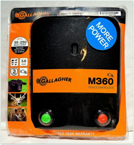 """NEW"""" OPEN BOX Gallagher M360 Electric Fence Energizer"""