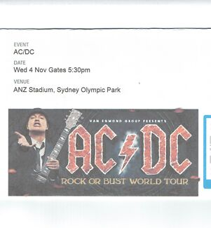 AC/DC in ANZ STADIUM SYDNEY Sydney City Inner Sydney Preview