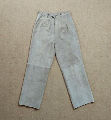 Vintage Jordache 1980s Beige Suede Leather Cropped Pants