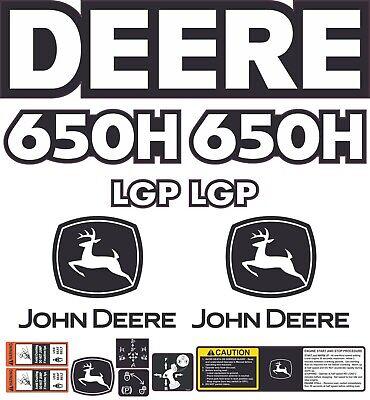 John Deere 650h Lgp Aftermarket Decal Kit - Very High Quality