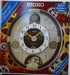 SEIKO MELODIES IN MOTION CLOCK WITH SWAROVSKI CRYSTALS