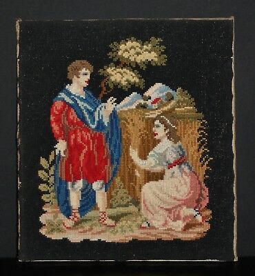 A Very Quality C19th Berlin Woolwork. Jesus With Mary Magdalene. 14