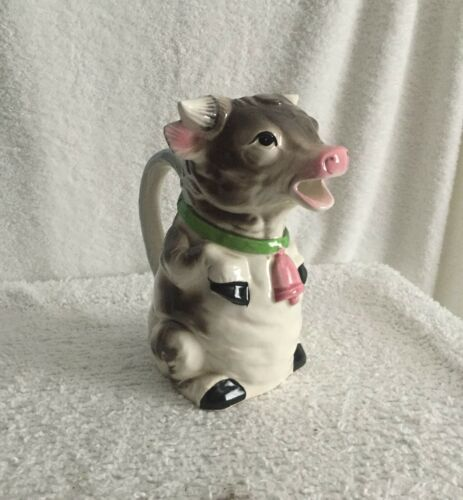 Vintage Price Imports Japan Porcelain Cow Creamer Pitcher