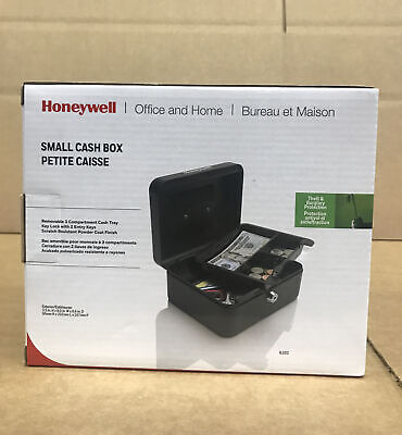 Honeywell Steel Cash Box 6202 With Removable Tray 1 Key